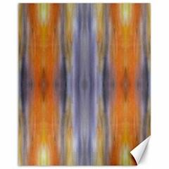 Gray Orange Stripes Painting Canvas 11  X 14