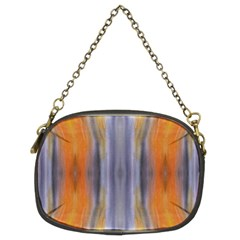 Gray Orange Stripes Painting Chain Purses (Two Sides)  by Costasonlineshop