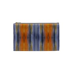 Gray Orange Stripes Painting Cosmetic Bag (small)