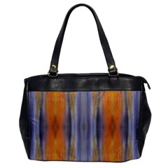 Gray Orange Stripes Painting Office Handbags by Costasonlineshop