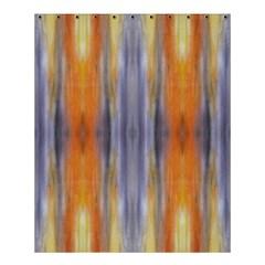 Gray Orange Stripes Painting Shower Curtain 60  X 72  (medium)  by Costasonlineshop
