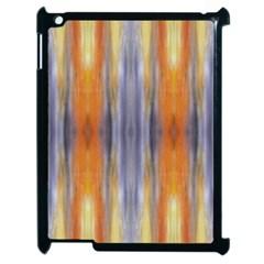 Gray Orange Stripes Painting Apple Ipad 2 Case (black)