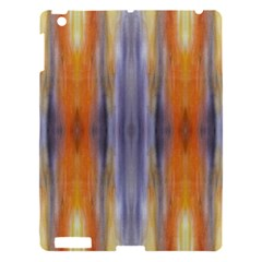 Gray Orange Stripes Painting Apple Ipad 3/4 Hardshell Case by Costasonlineshop