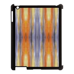 Gray Orange Stripes Painting Apple Ipad 3/4 Case (black)