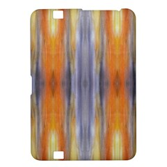 Gray Orange Stripes Painting Kindle Fire Hd 8 9  by Costasonlineshop