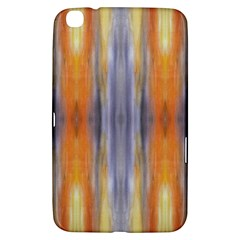 Gray Orange Stripes Painting Samsung Galaxy Tab 3 (8 ) T3100 Hardshell Case  by Costasonlineshop
