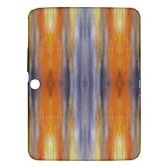 Gray Orange Stripes Painting Samsung Galaxy Tab 3 (10.1 ) P5200 Hardshell Case  by Costasonlineshop