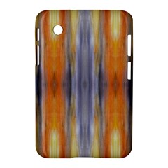 Gray Orange Stripes Painting Samsung Galaxy Tab 2 (7 ) P3100 Hardshell Case  by Costasonlineshop