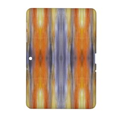 Gray Orange Stripes Painting Samsung Galaxy Tab 2 (10 1 ) P5100 Hardshell Case  by Costasonlineshop