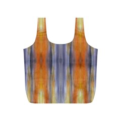 Gray Orange Stripes Painting Full Print Recycle Bags (s)  by Costasonlineshop