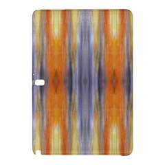 Gray Orange Stripes Painting Samsung Galaxy Tab Pro 12 2 Hardshell Case by Costasonlineshop