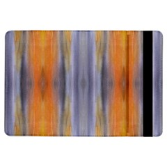 Gray Orange Stripes Painting Ipad Air Flip
