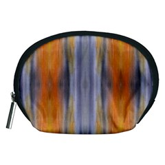 Gray Orange Stripes Painting Accessory Pouches (medium)