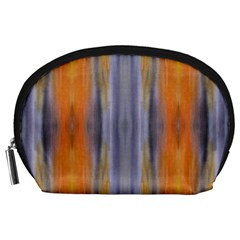 Gray Orange Stripes Painting Accessory Pouches (large)