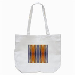 Gray Orange Stripes Painting Tote Bag (white)  by Costasonlineshop