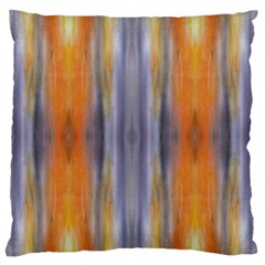 Gray Orange Stripes Painting Large Flano Cushion Cases (one Side)
