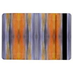 Gray Orange Stripes Painting Ipad Air 2 Flip by Costasonlineshop