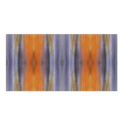 Gray Orange Stripes Painting Satin Shawl by Costasonlineshop