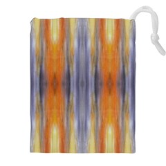 Gray Orange Stripes Painting Drawstring Pouches (xxl) by Costasonlineshop