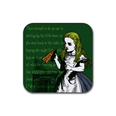 Alice In Wonderland Rubber Coaster (square)