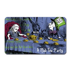 A Mad Tea Party Magnet (rectangular) by waywardmuse