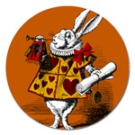 The White Rabbit Magnet 5  (Round) Front