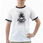 Skull & Books Ringer T-Shirts