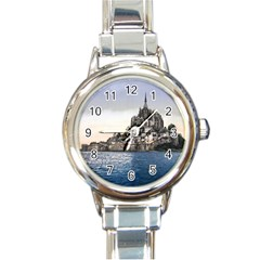 Le Mont St Michel 2 Round Italian Charm Watches by trendistuff
