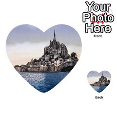 Le Mont St Michel 2 Multi Purpose Cards (heart)  by trendistuff