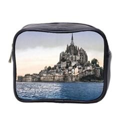 Le Mont St Michel 2 Mini Toiletries Bag 2 Side by trendistuff