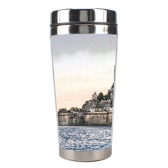 Le Mont St Michel 2 Stainless Steel Travel Tumblers by trendistuff