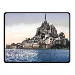 Le Mont St Michel 2 Double Sided Fleece Blanket (small)  by trendistuff