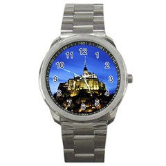 Le Mont St Michel 1 Sport Metal Watches by trendistuff
