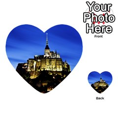 Le Mont St Michel 1 Multi Purpose Cards (heart)  by trendistuff