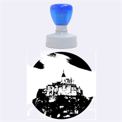 Le Mont St Michel 1 Rubber Round Stamps (large) by trendistuff