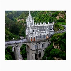 Las Lajas Sanctuary 2 Small Glasses Cloth by trendistuff