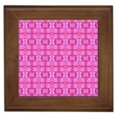 Pretty Pink Flower Pattern Framed Tiles by Costasonlineshop