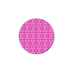 Pretty Pink Flower Pattern Golf Ball Marker by Costasonlineshop