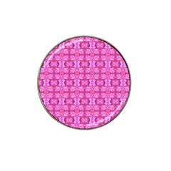 Pretty Pink Flower Pattern Hat Clip Ball Marker (4 Pack) by Costasonlineshop