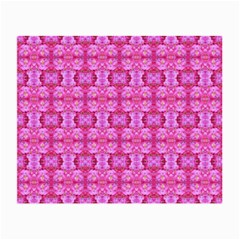 Pretty Pink Flower Pattern Small Glasses Cloth by Costasonlineshop