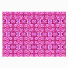 Pretty Pink Flower Pattern Large Glasses Cloth by Costasonlineshop