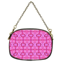 Pretty Pink Flower Pattern Chain Purses (two Sides)
