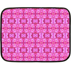Pretty Pink Flower Pattern Fleece Blanket (Mini) by Costasonlineshop