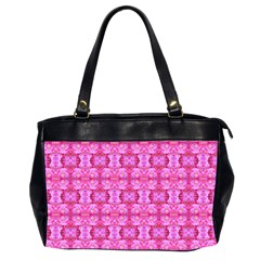 Pretty Pink Flower Pattern Office Handbags (2 Sides)  by Costasonlineshop