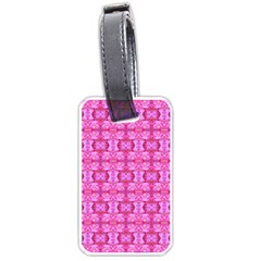 Pretty Pink Flower Pattern Luggage Tags (Two Sides) by Costasonlineshop