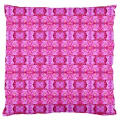 Pretty Pink Flower Pattern Large Cushion Cases (one Side)  by Costasonlineshop