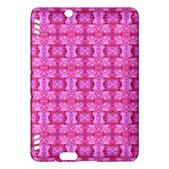 Pretty Pink Flower Pattern Kindle Fire Hdx Hardshell Case by Costasonlineshop