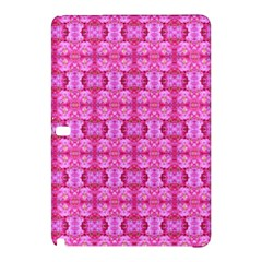 Pretty Pink Flower Pattern Samsung Galaxy Tab Pro 10.1 Hardshell Case by Costasonlineshop