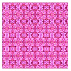 Pretty Pink Flower Pattern Large Satin Scarf (square) by Costasonlineshop