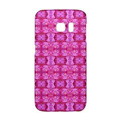 Pretty Pink Flower Pattern Galaxy S6 Edge by Costasonlineshop